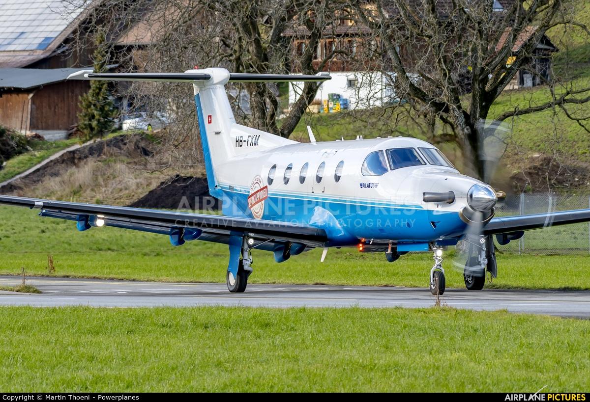 Pilatus HB-FXM aircraft at Buochs