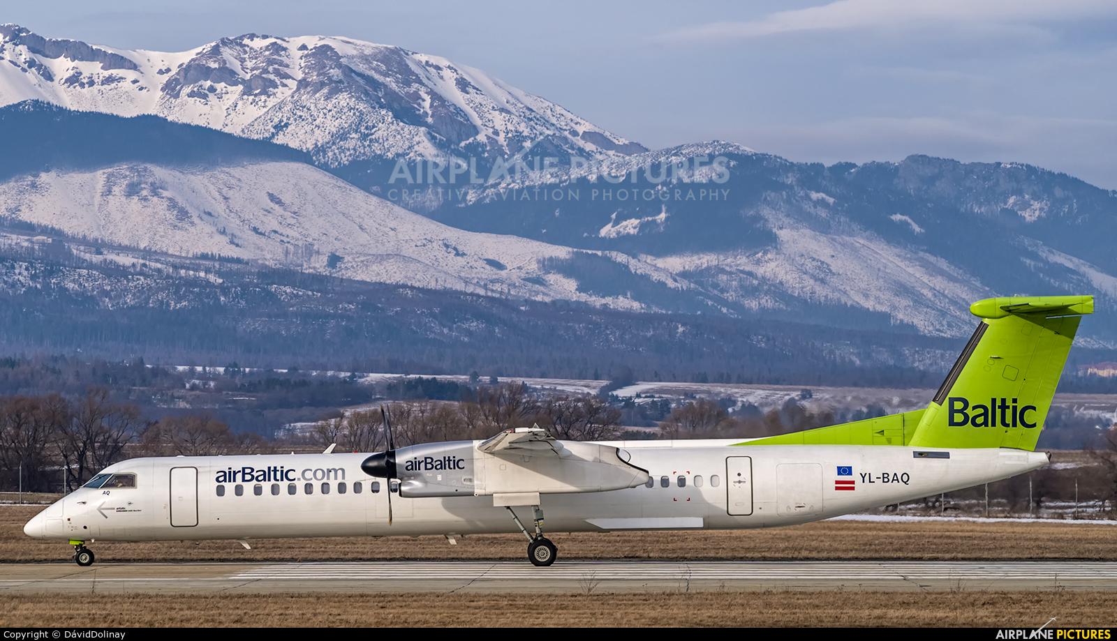 Air Baltic YL-BAQ aircraft at Poprad - Tatry