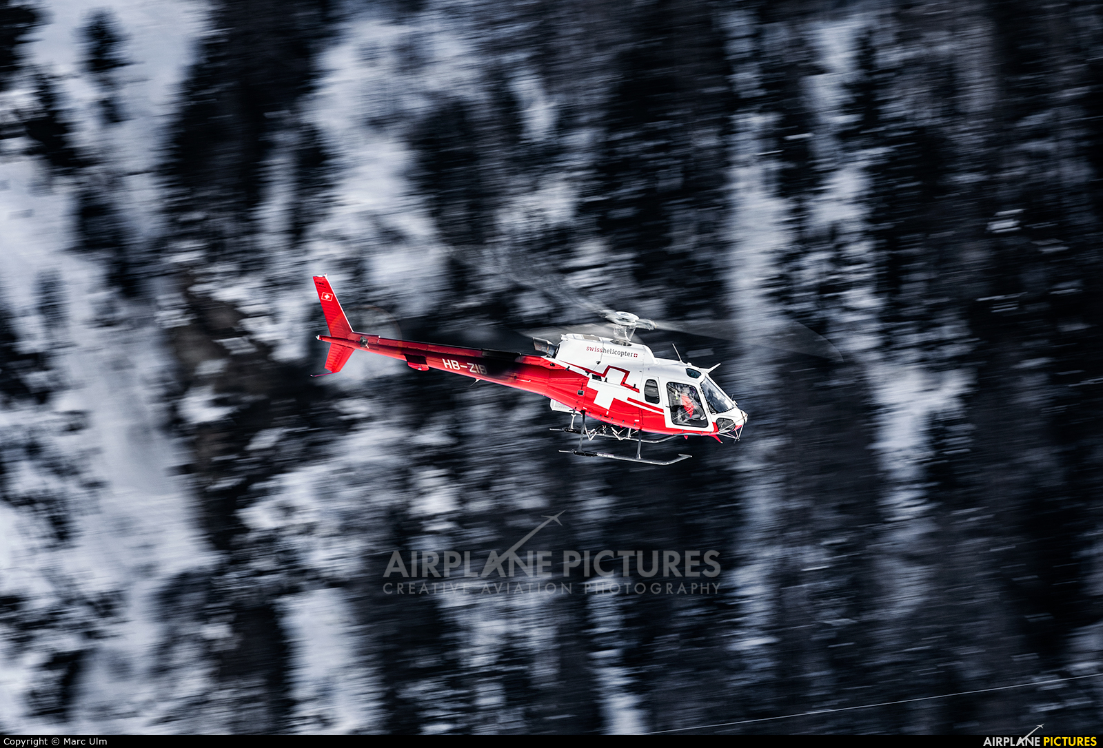 Swiss Helicopter HB-ZIB aircraft at Samedan - Engadin