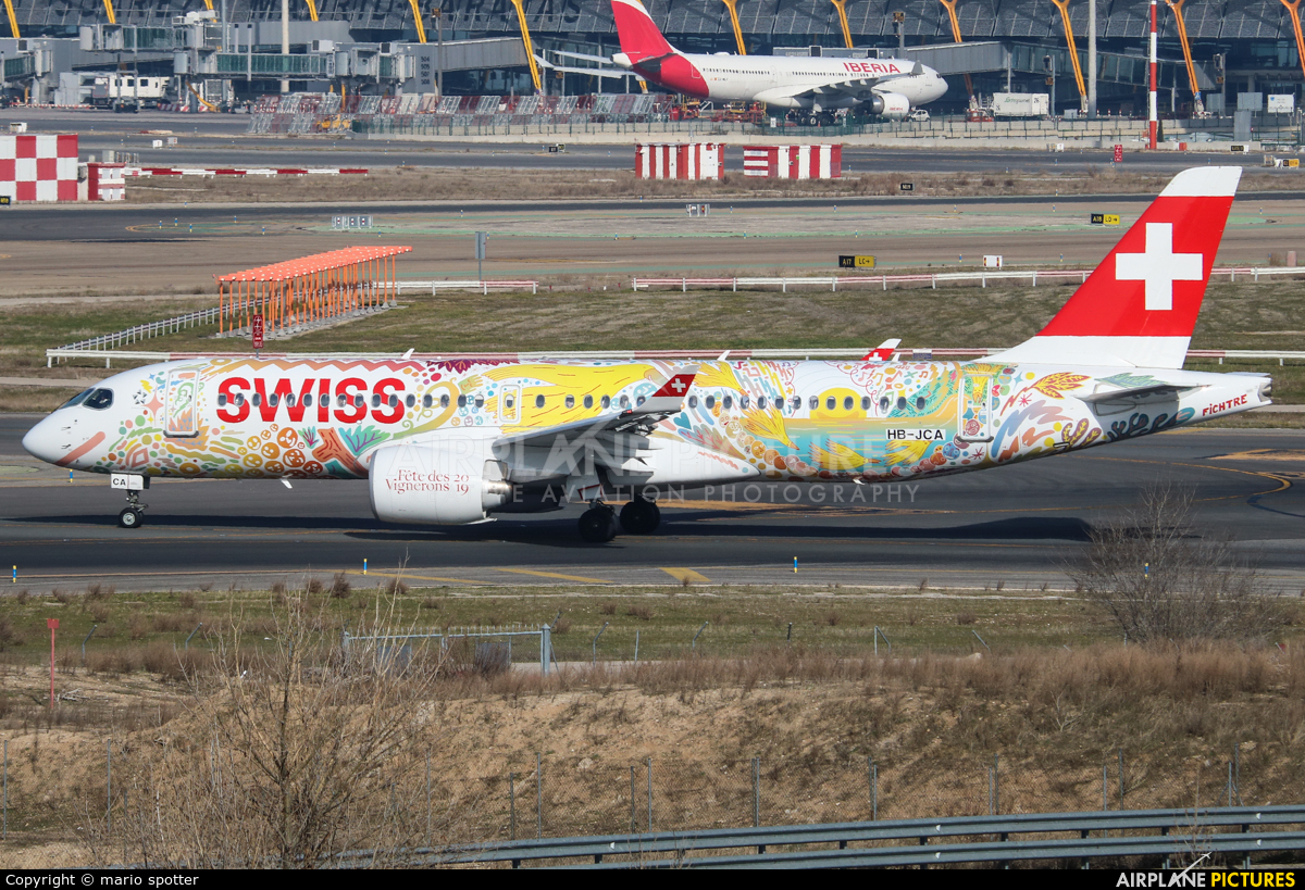 Swiss HB-JCA aircraft at Madrid - Barajas