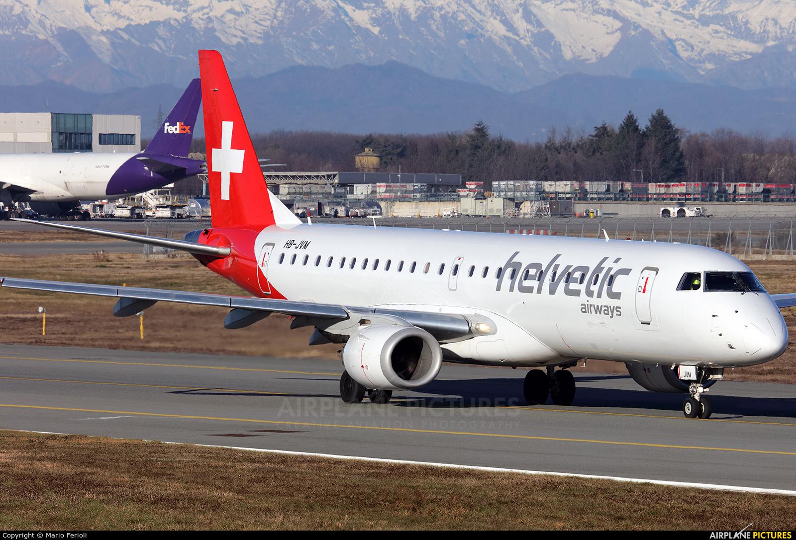 Helvetic Airways HB-JVM aircraft at Milan - Malpensa