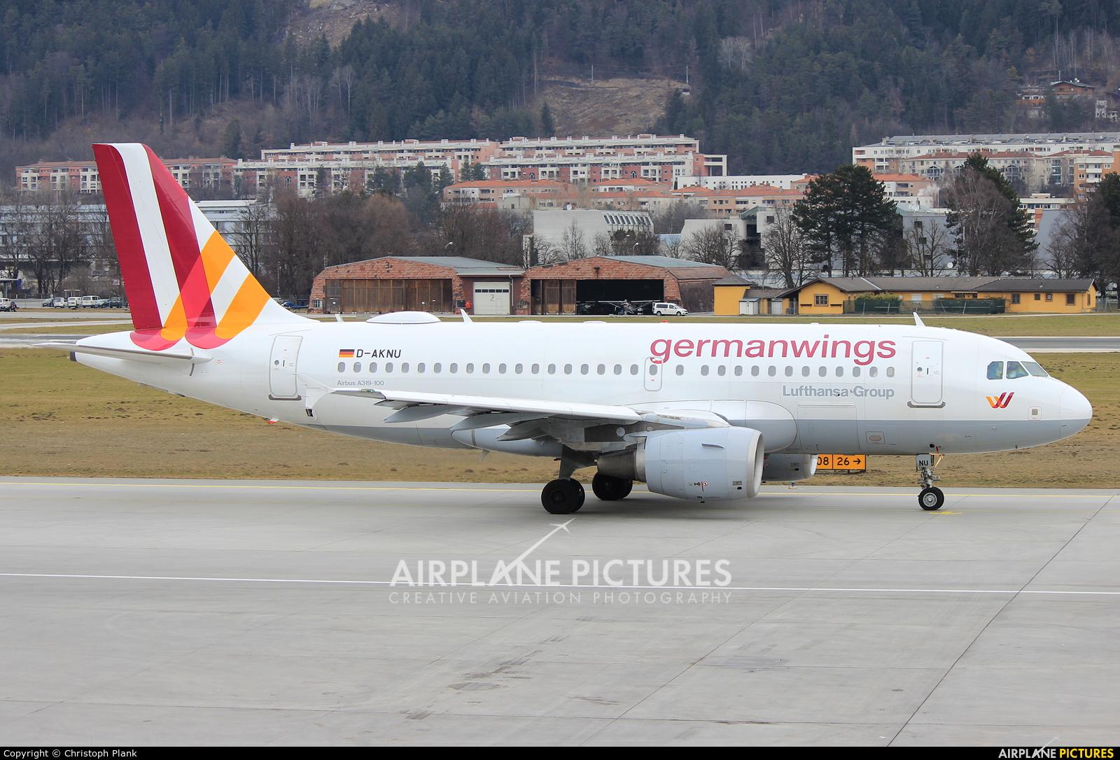 Germanwings D-AKNU aircraft at Innsbruck