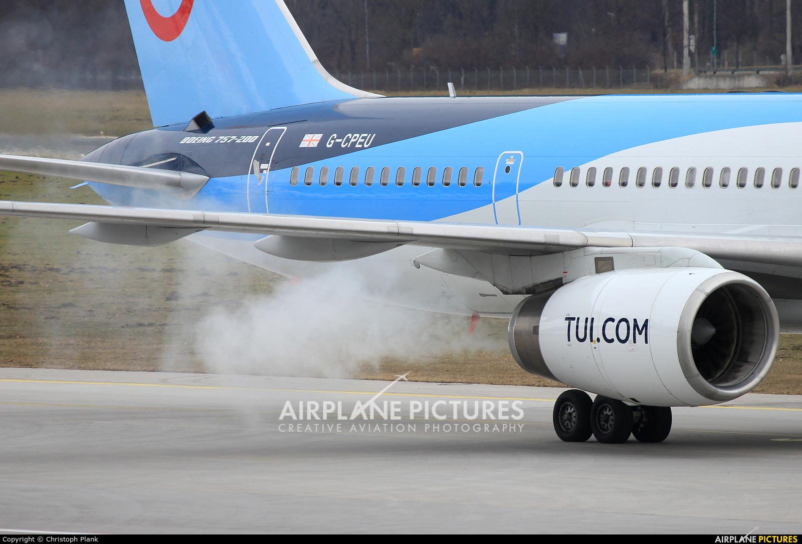 TUI Airways G-CPEU aircraft at Innsbruck
