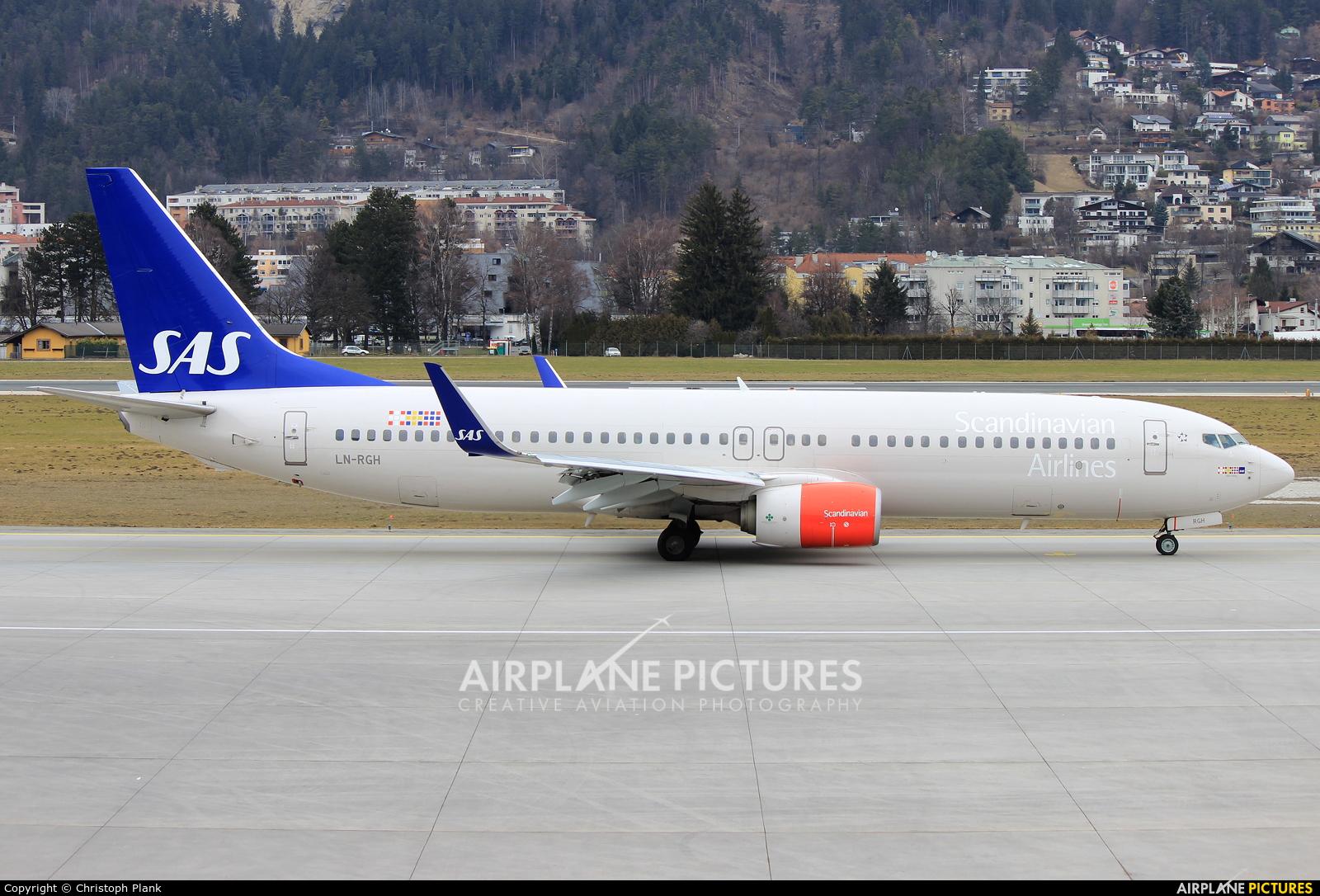 SAS - Scandinavian Airlines LN-RGH aircraft at Innsbruck