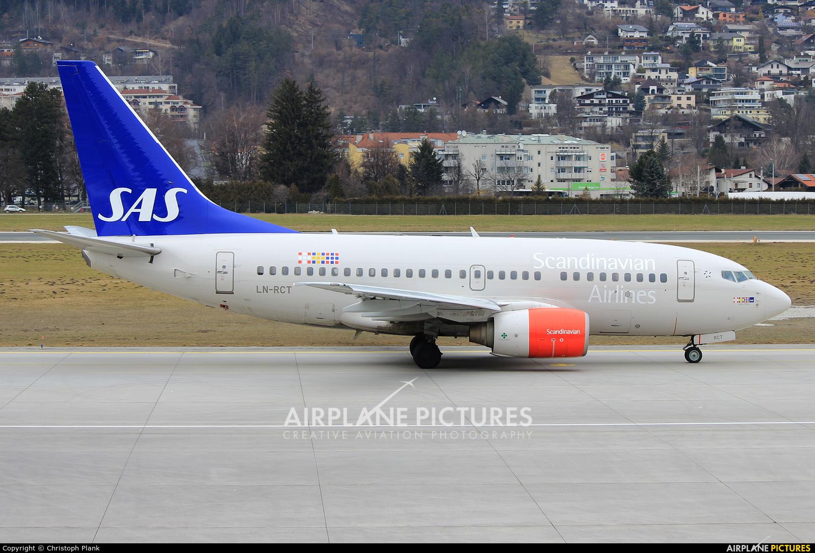 SAS - Scandinavian Airlines LN-RCT aircraft at Innsbruck