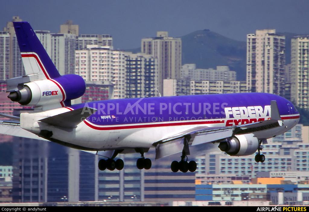 FedEx Federal Express N604FE aircraft at HKG - Kai Tak Intl CLOSED