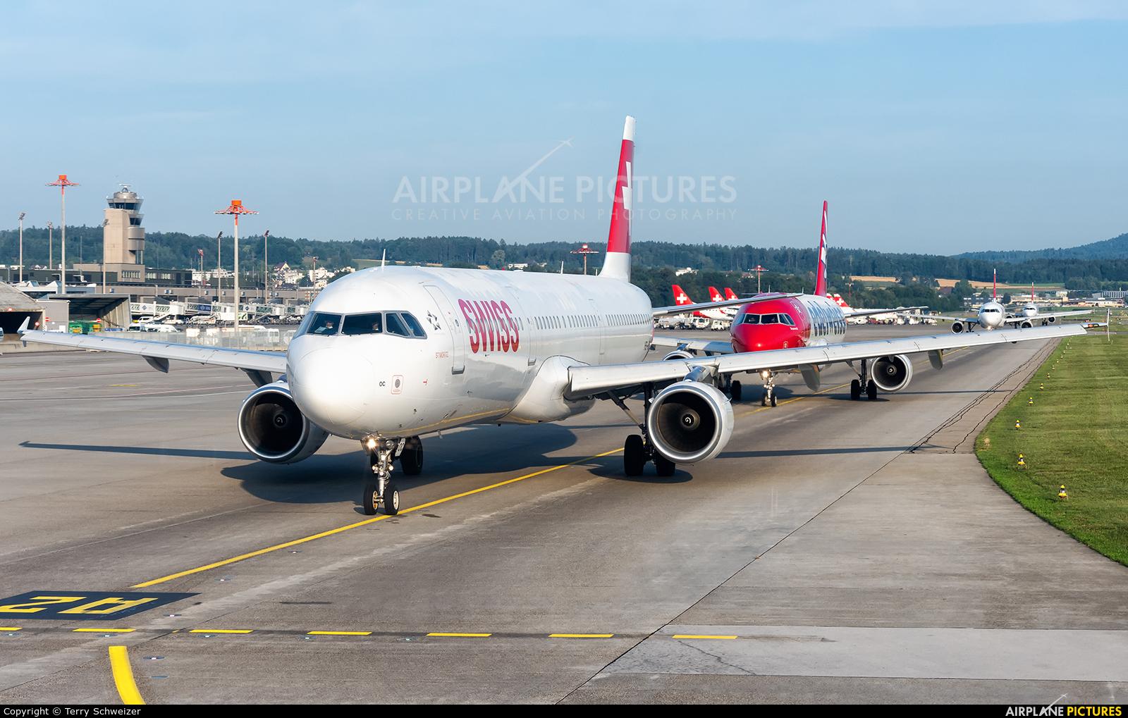 Swiss HB-IOC aircraft at Zurich