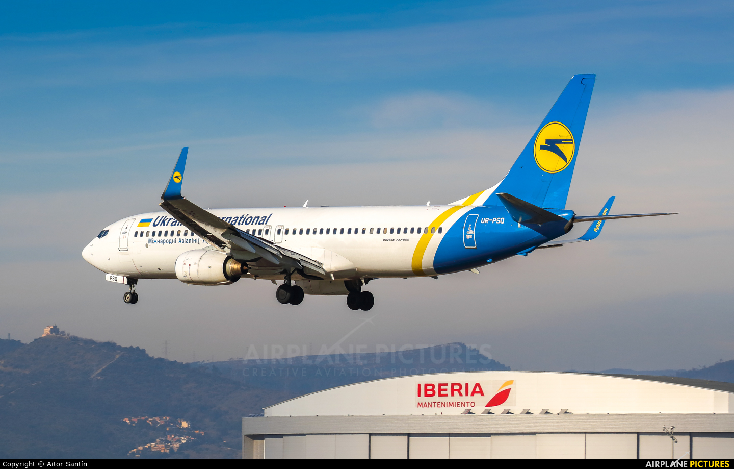 Ukraine International Airlines UR-PSQ aircraft at Barcelona - El Prat