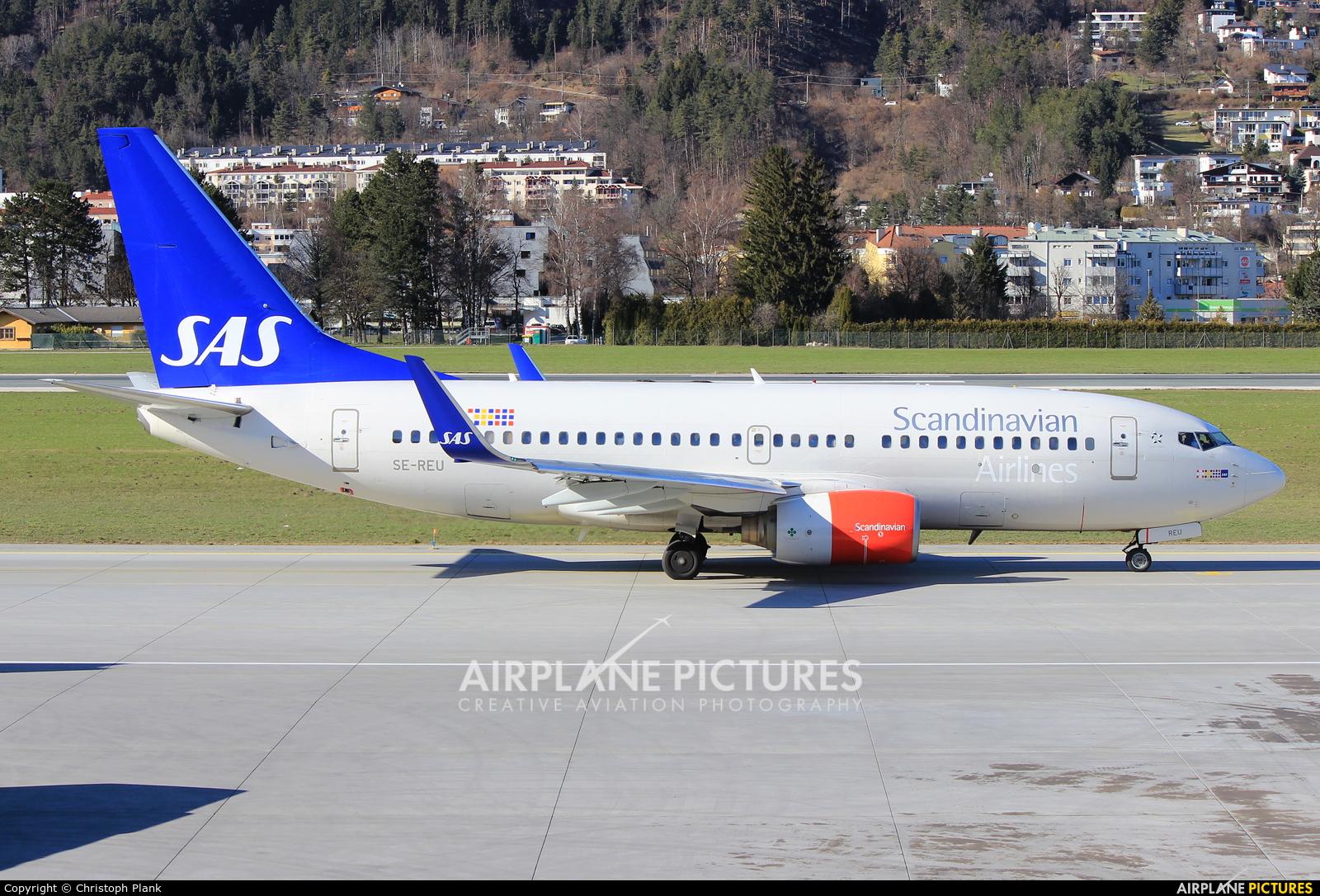 SAS - Scandinavian Airlines SE-REU aircraft at Innsbruck