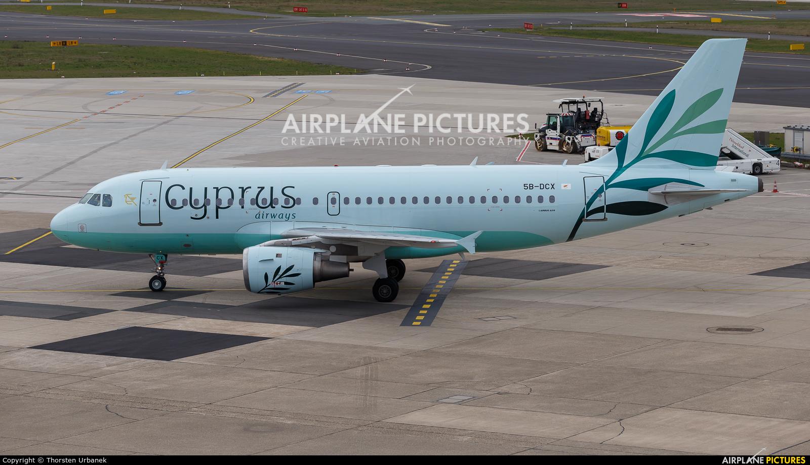 Cyprus Airways 5B-DCX aircraft at Düsseldorf
