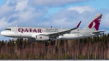 A7-AHW - Qatar Airways Airbus A320 aircraft