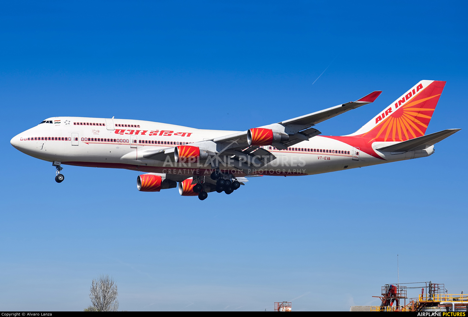 Air India VT-EVA aircraft at Madrid - Torrejon