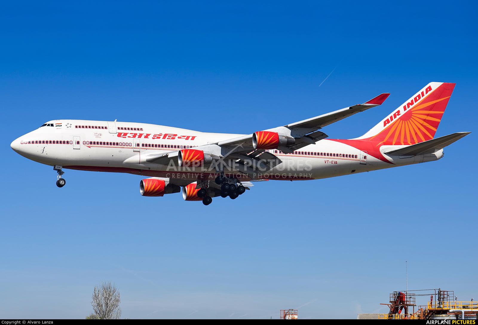 Air India VT-EVA aircraft at Madrid - Barajas