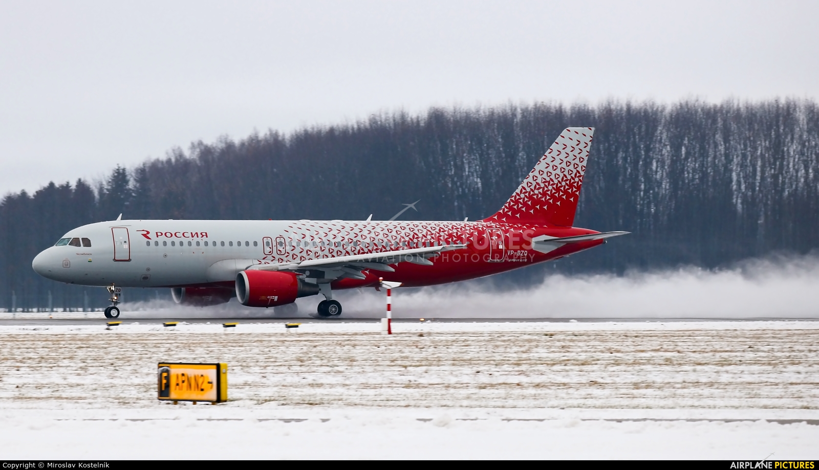 Rossiya VP-BZQ aircraft at Ostrava Mošnov
