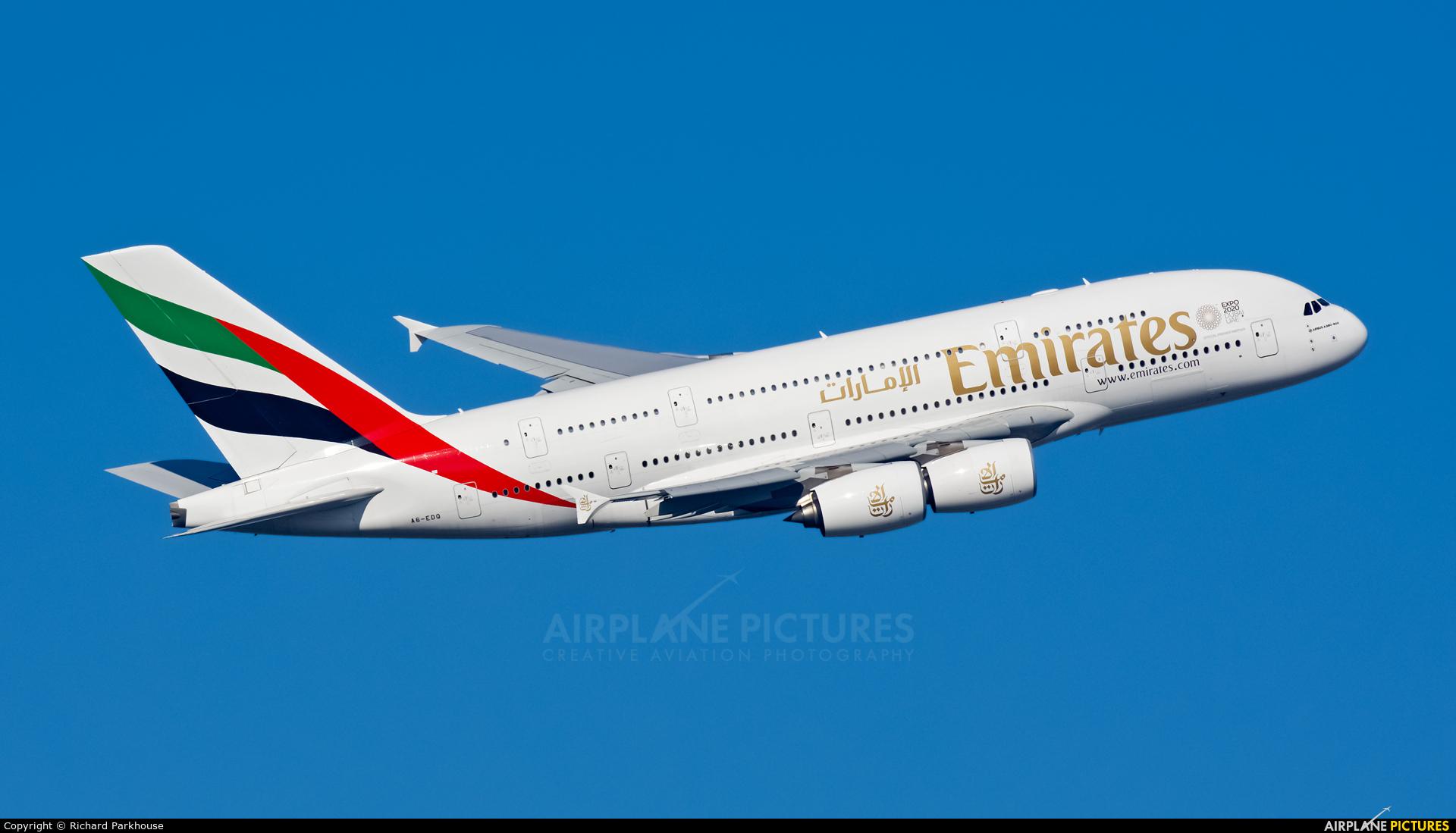 Emirates Airlines A6-EDQ aircraft at London - Heathrow
