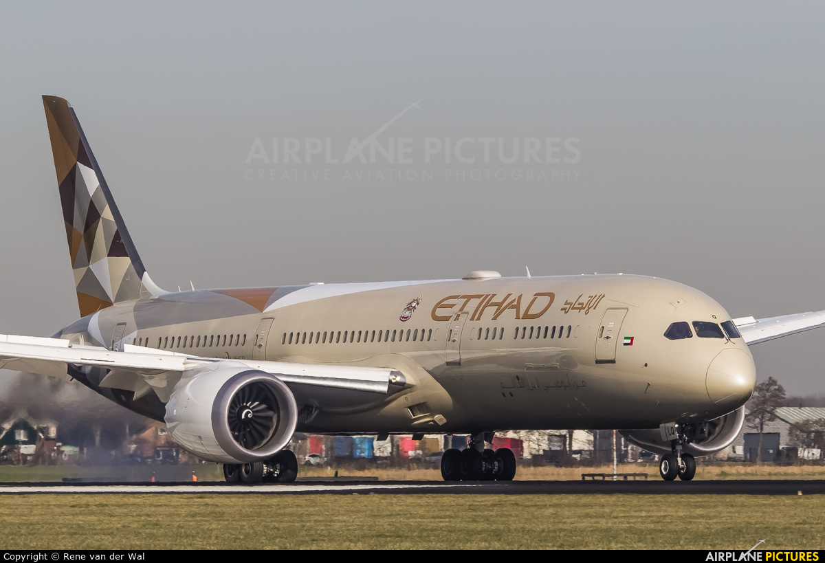Etihad Airways A6-BLQ aircraft at Amsterdam - Schiphol