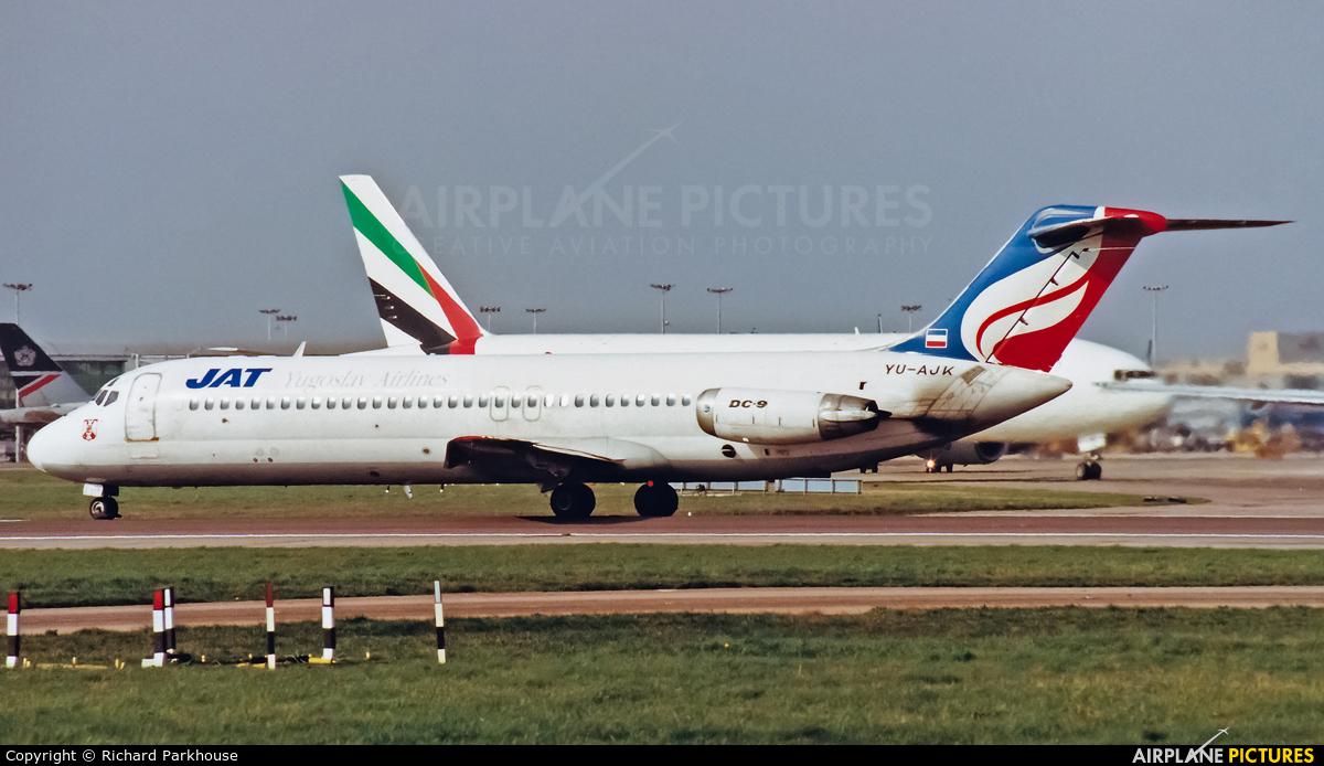 JAT - Yugoslav Airlines YU-AJK aircraft at London - Heathrow