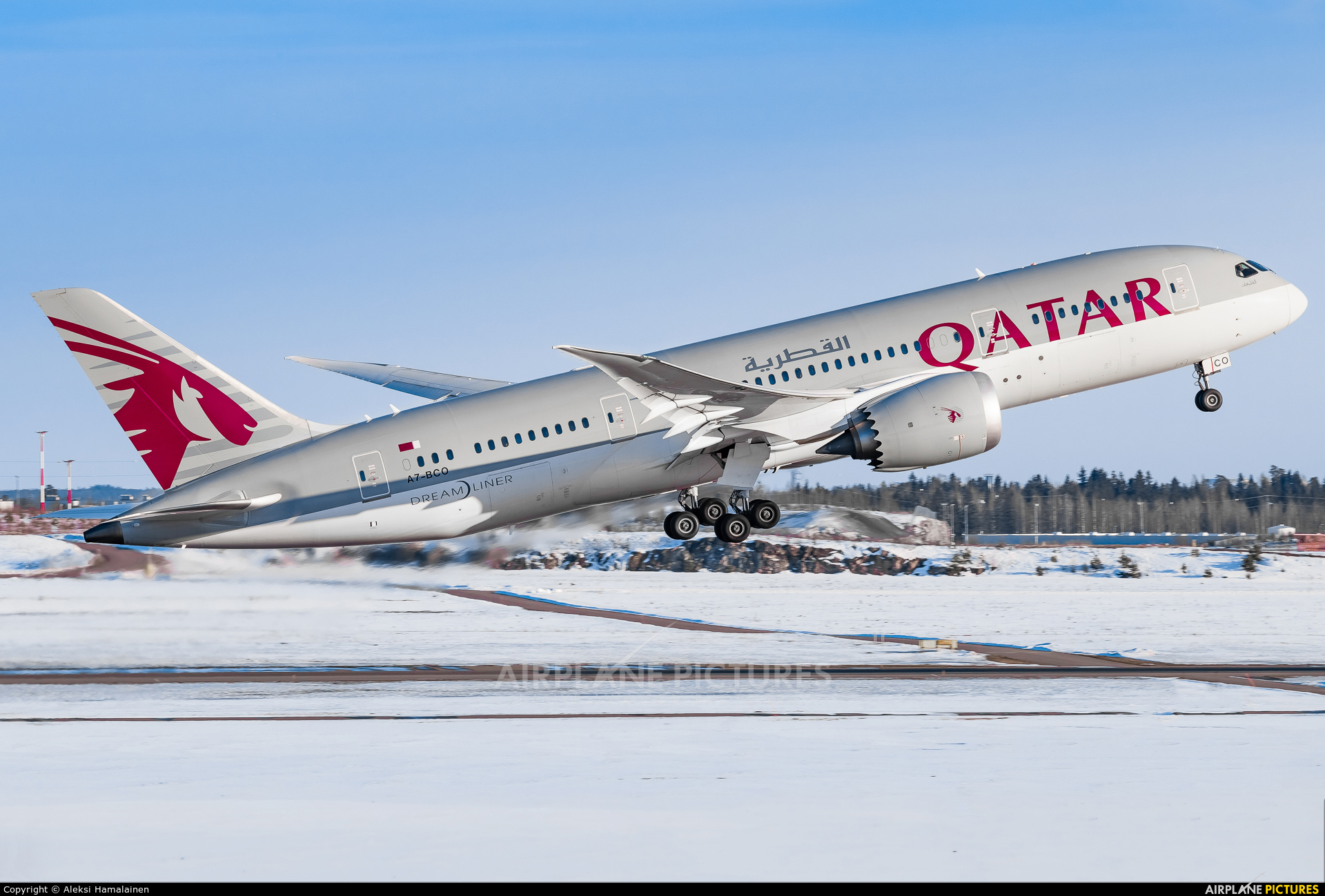 Qatar Airways A7-BCO aircraft at Helsinki - Vantaa