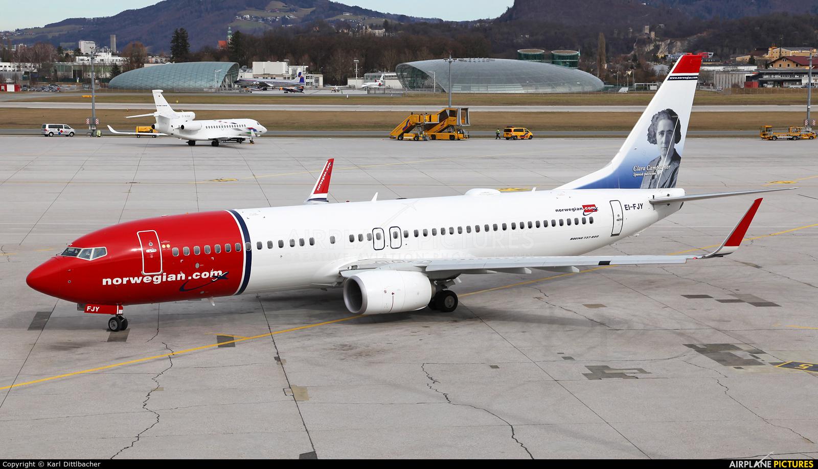 Norwegian Air International EI-FJY aircraft at Salzburg