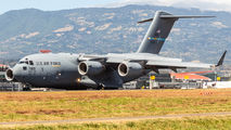 USAF C17 brought 4 helicopters to San Jose title=
