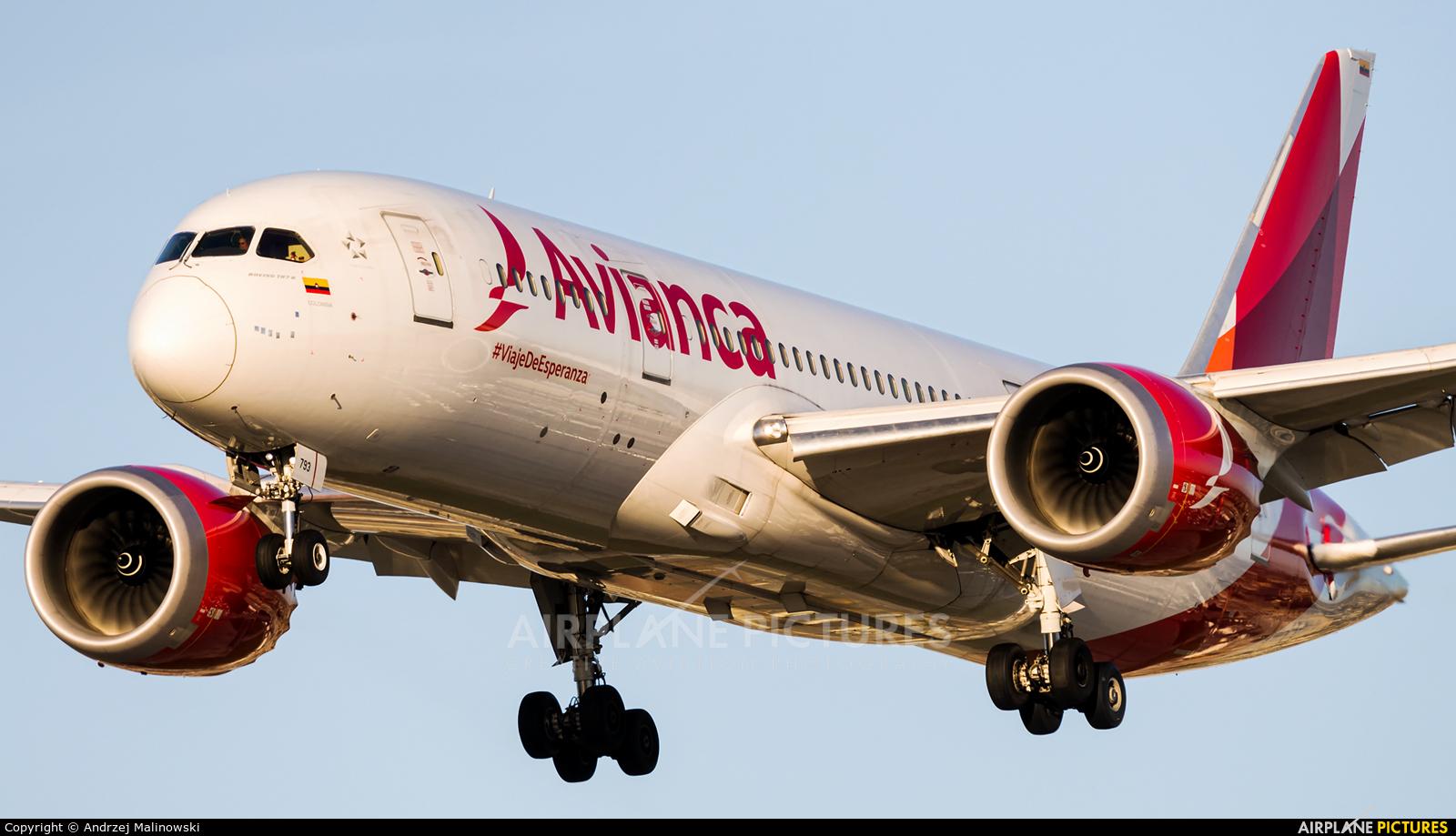 Avianca N793AV aircraft at Los Angeles Intl