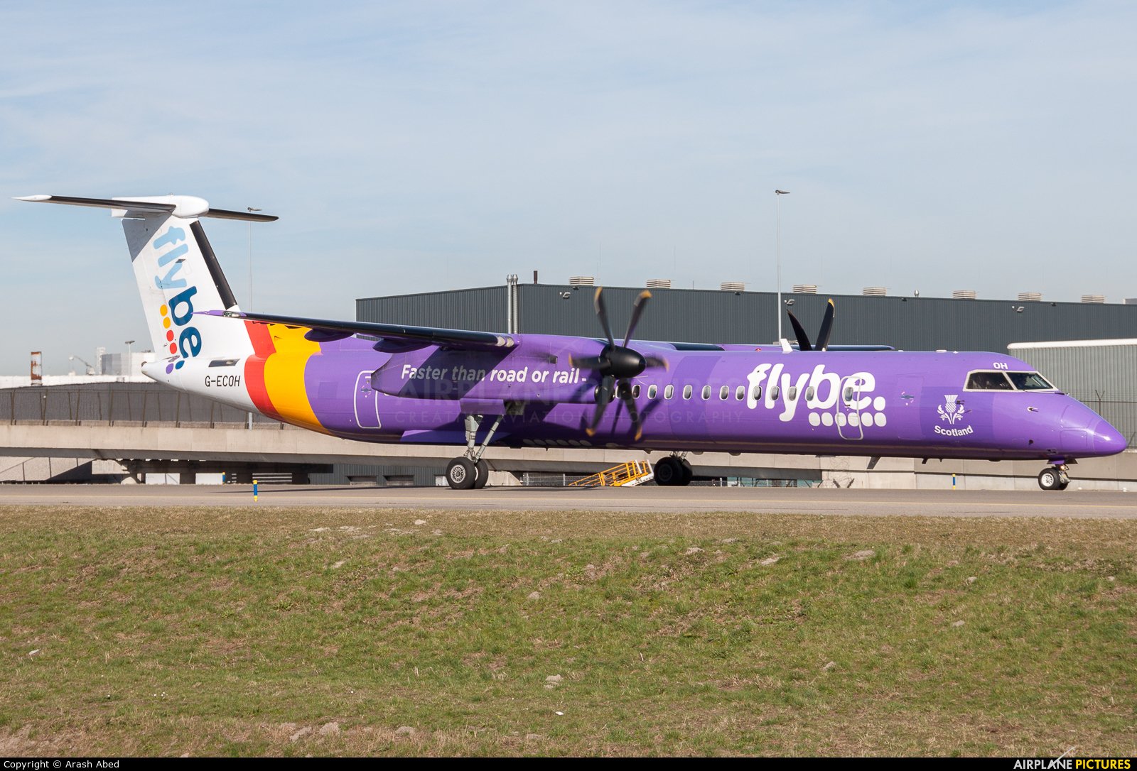 Flybe G-ECOH aircraft at Amsterdam - Schiphol