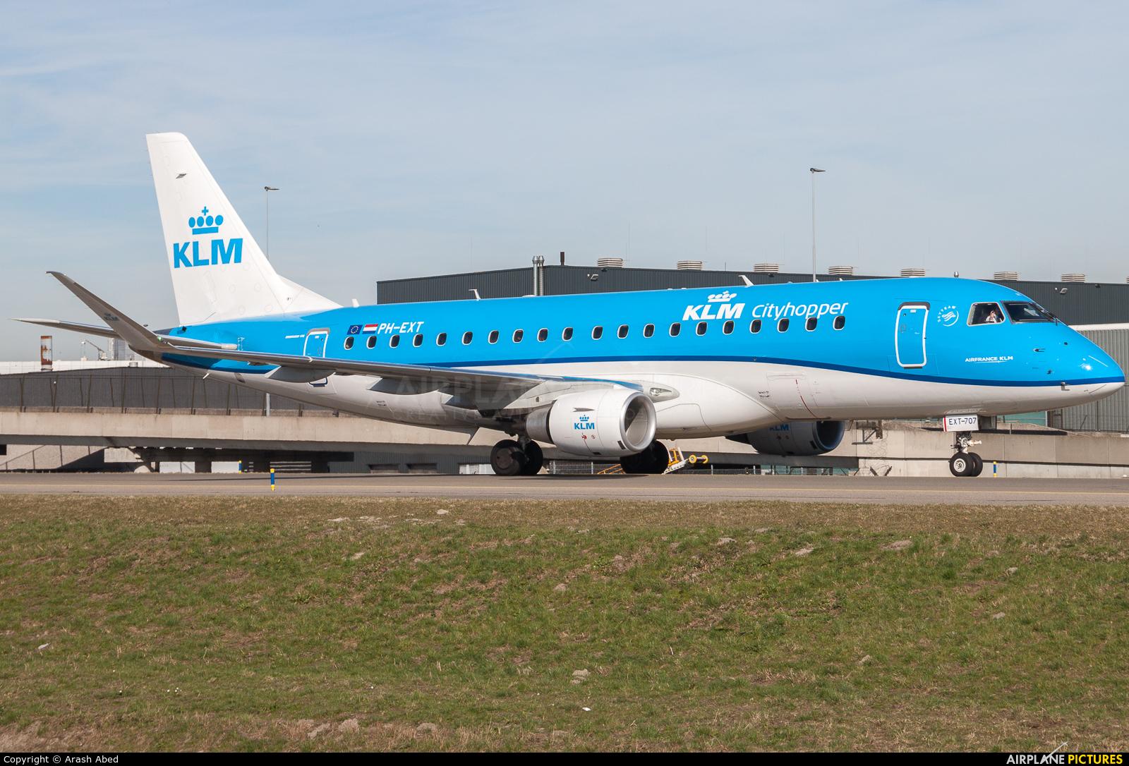 KLM Cityhopper PH-EXT aircraft at Amsterdam - Schiphol