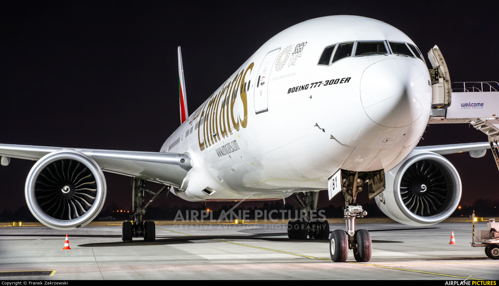 Emirates Airlines A6-EBY aircraft at Warsaw - Frederic Chopin