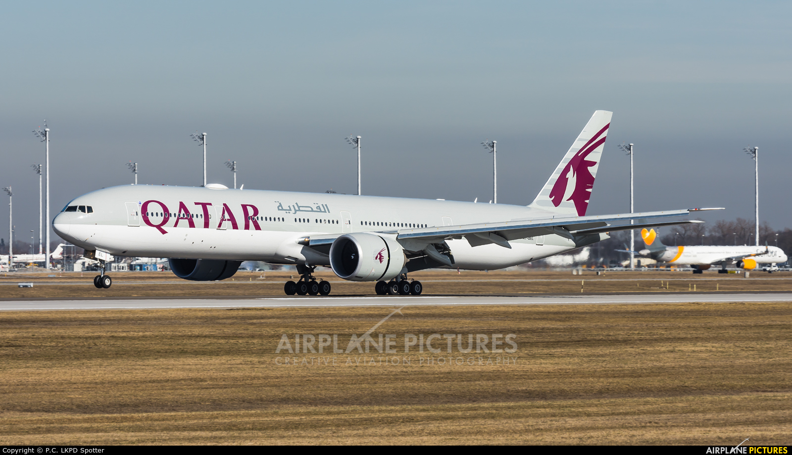 Qatar Airways A7-BEL aircraft at Munich