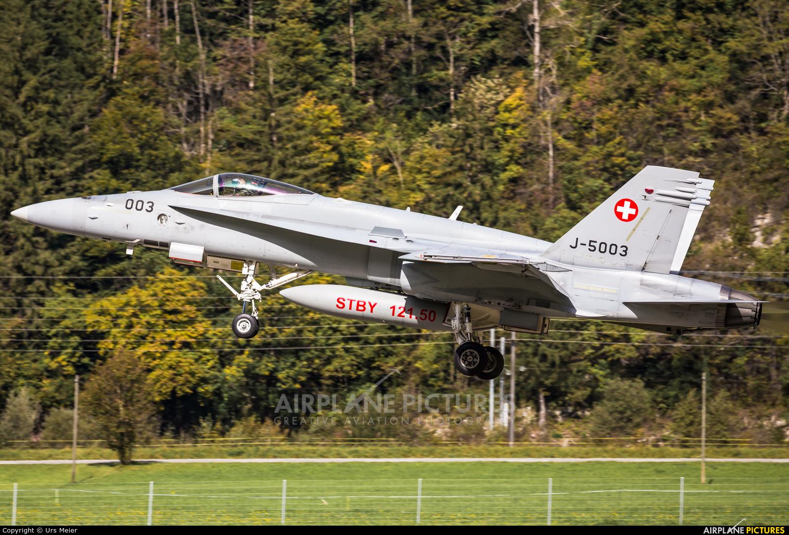 Switzerland - Air Force J-5003 aircraft at Meiringen