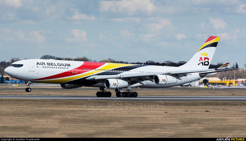 Air Belgium OO-ABD aircraft at Warsaw - Frederic Chopin