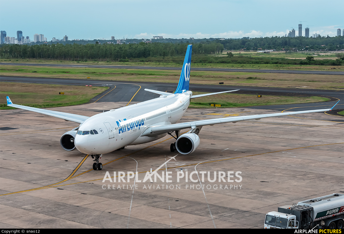 Air Europa EC-KOM aircraft at Asuncion - Silvio Pettirossi Intl