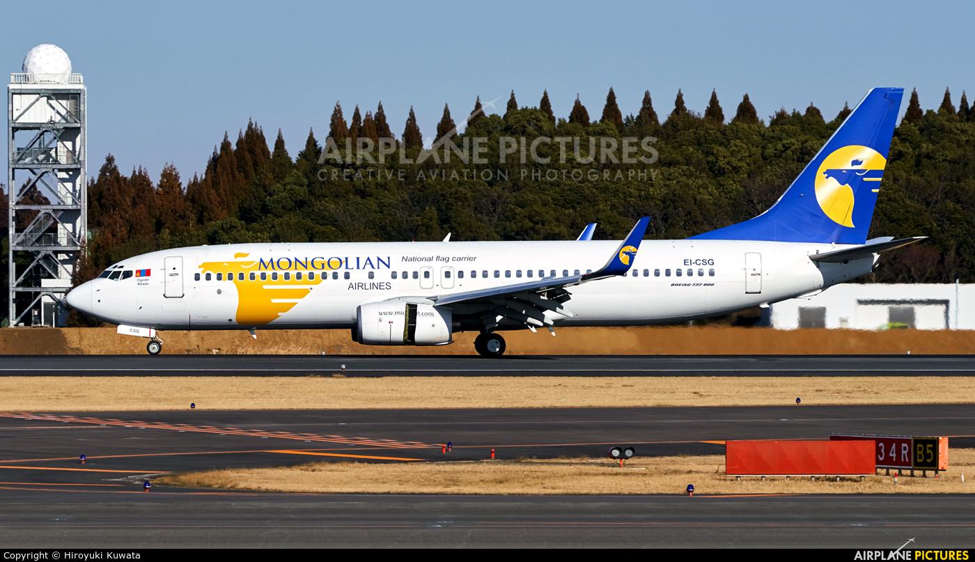 Mongolian Airlines EI-CSG aircraft at Tokyo - Narita Intl