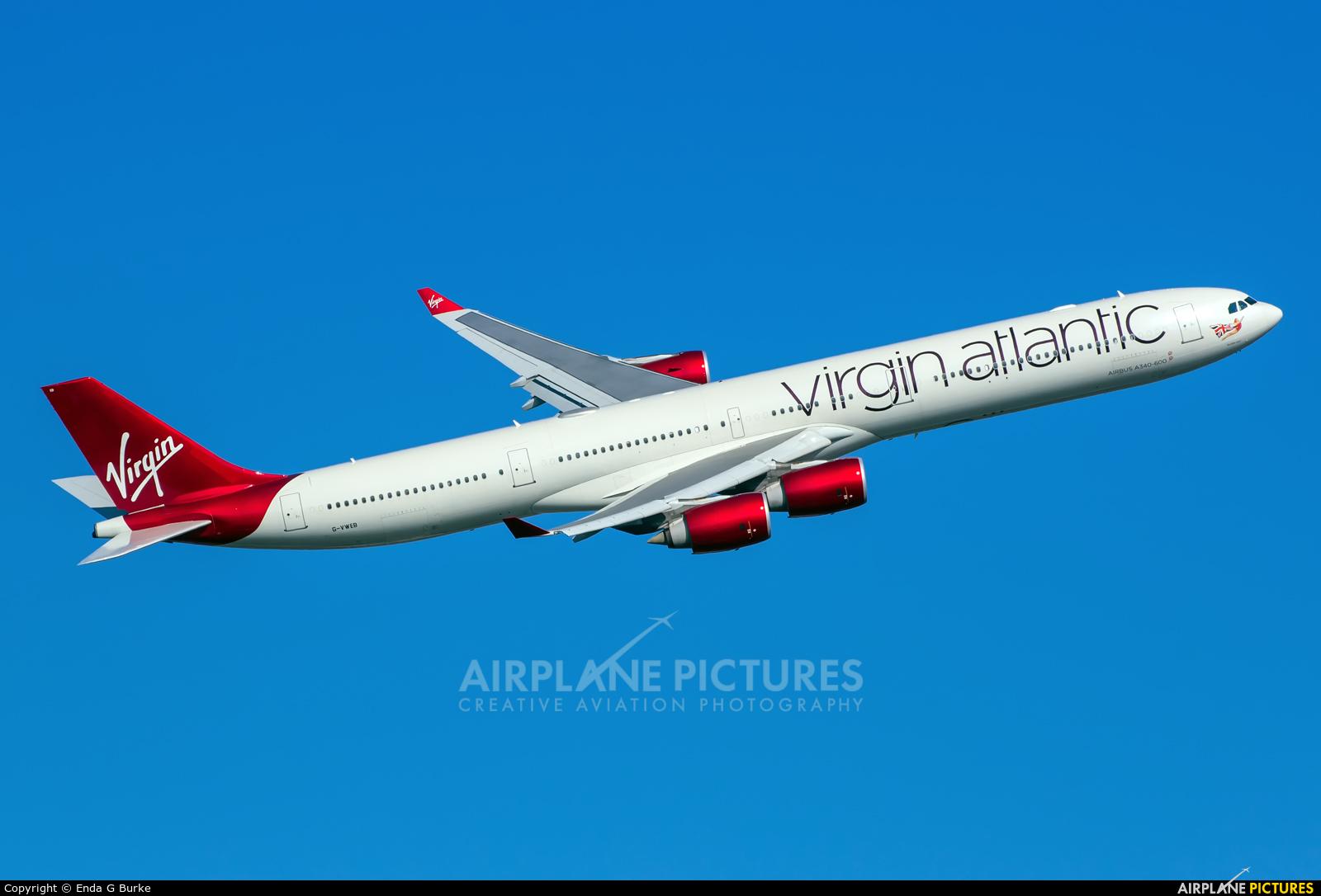 Virgin Atlantic G-VWEB aircraft at London - Heathrow