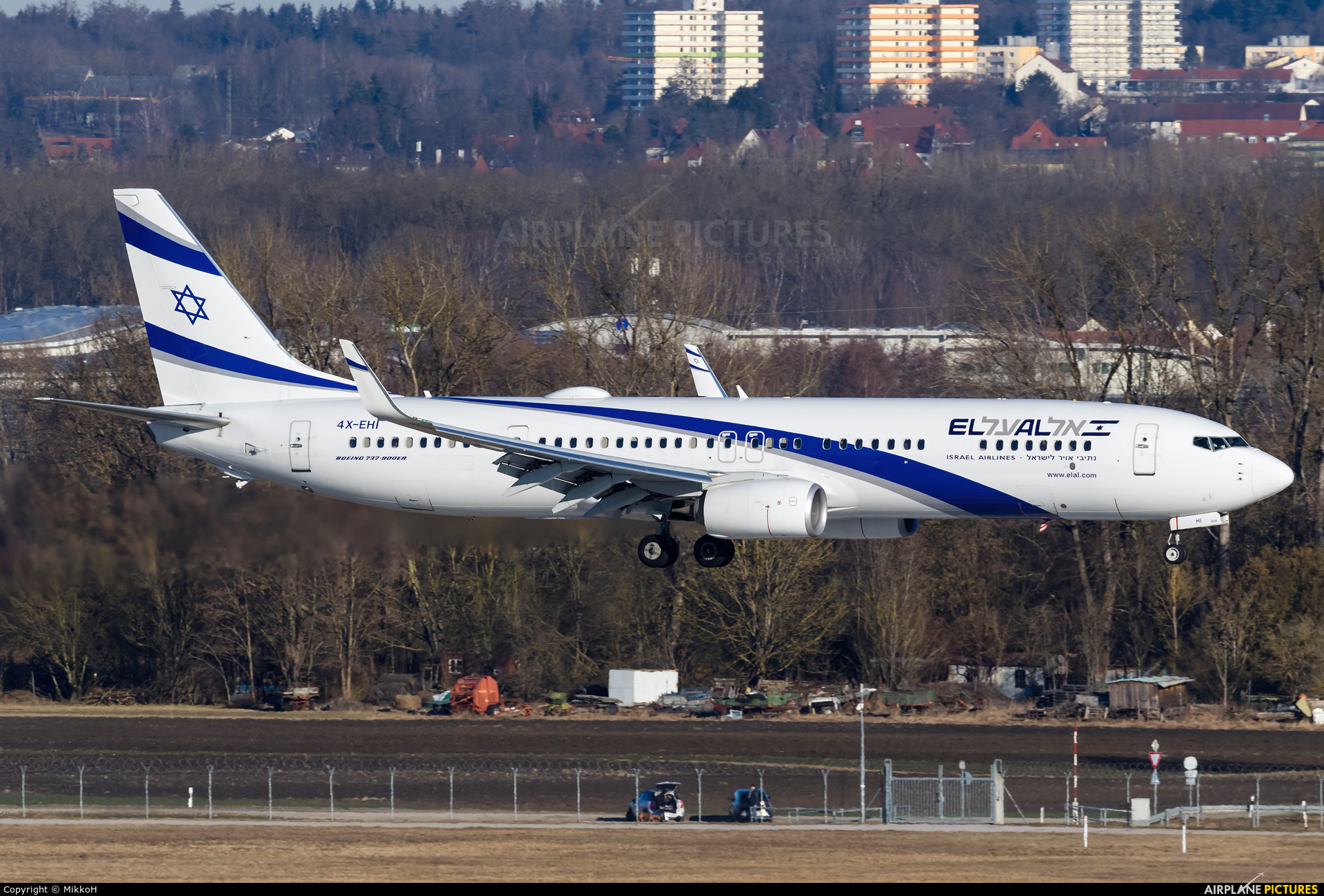 El Al Israel Airlines 4X-EHI aircraft at Munich