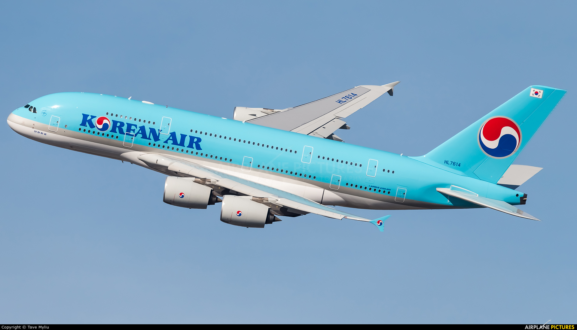Korean Air HL7614 aircraft at New York - John F. Kennedy Intl