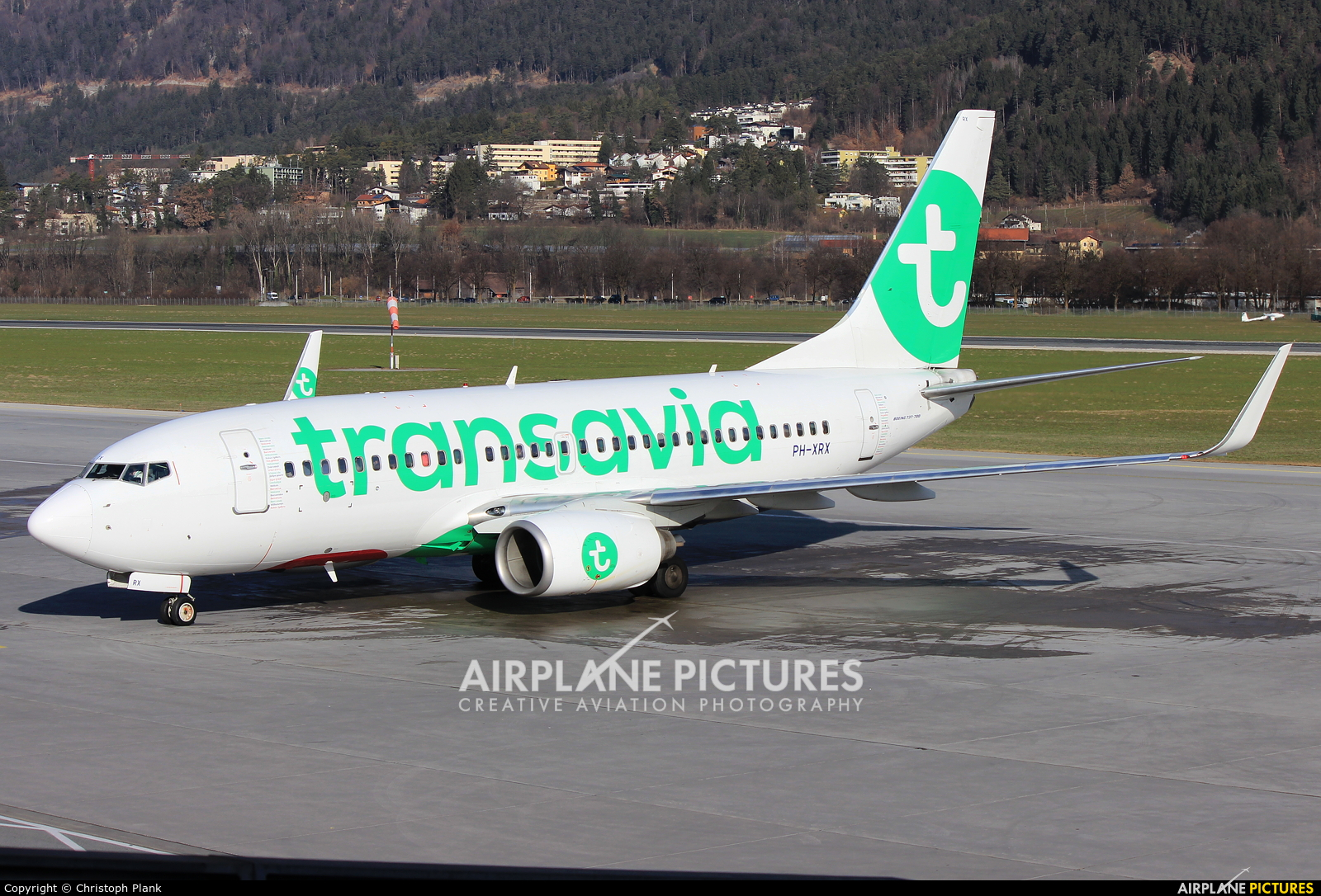 Transavia PH-XRX aircraft at Innsbruck