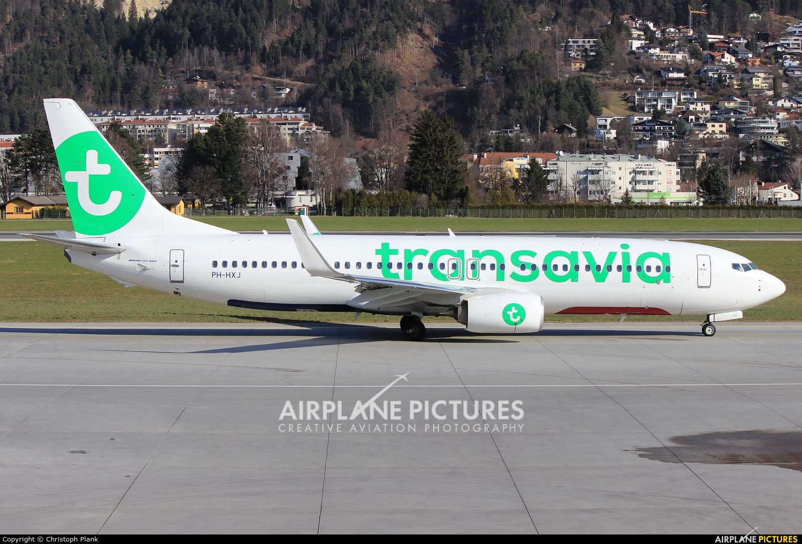 Transavia PH-HXJ aircraft at Innsbruck