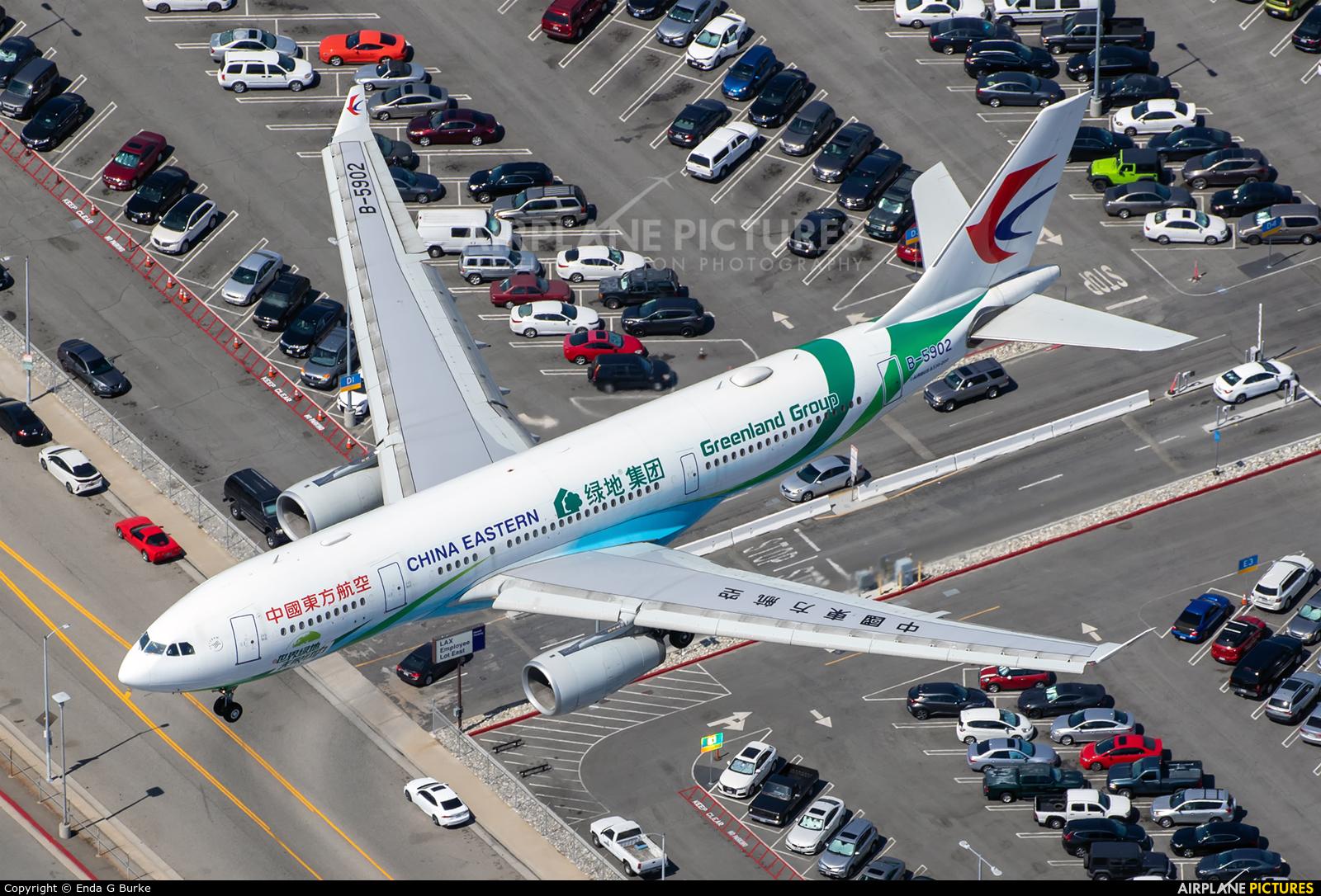 China Eastern Airlines B-5902 aircraft at Los Angeles Intl