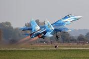 56 BLUE - Ukraine - Air Force Sukhoi Su-27 aircraft