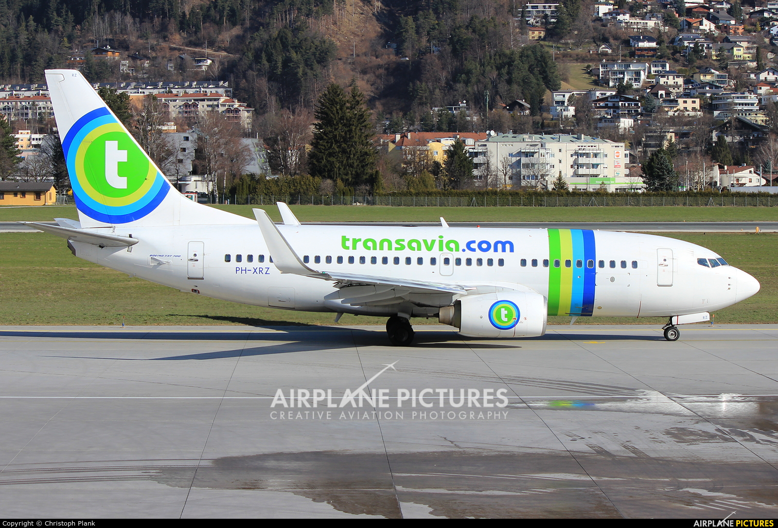 Transavia PH-XRZ aircraft at Innsbruck
