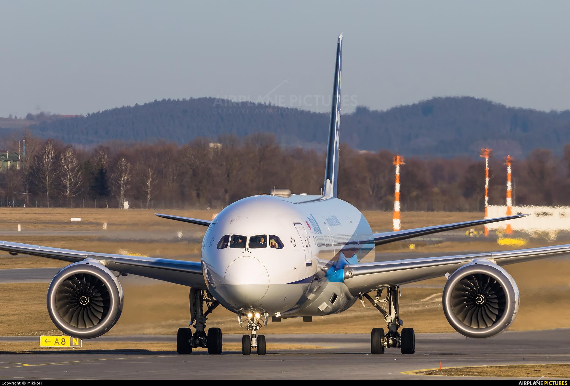 ANA - All Nippon Airways JA876A aircraft at Munich