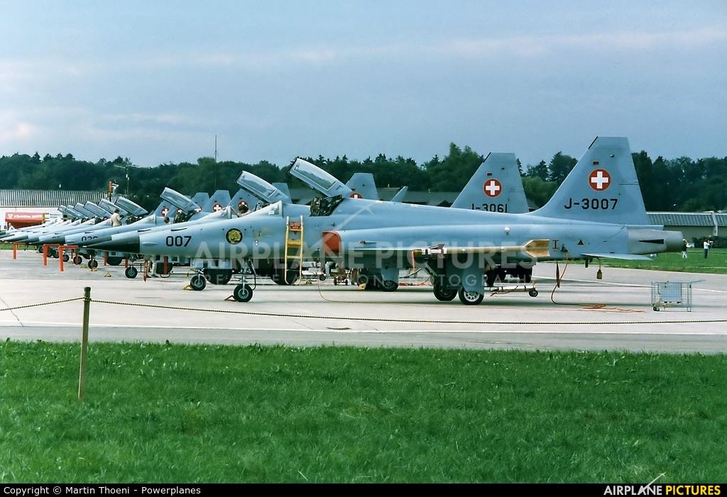Switzerland - Air Force J-3007 aircraft at Dübendorf