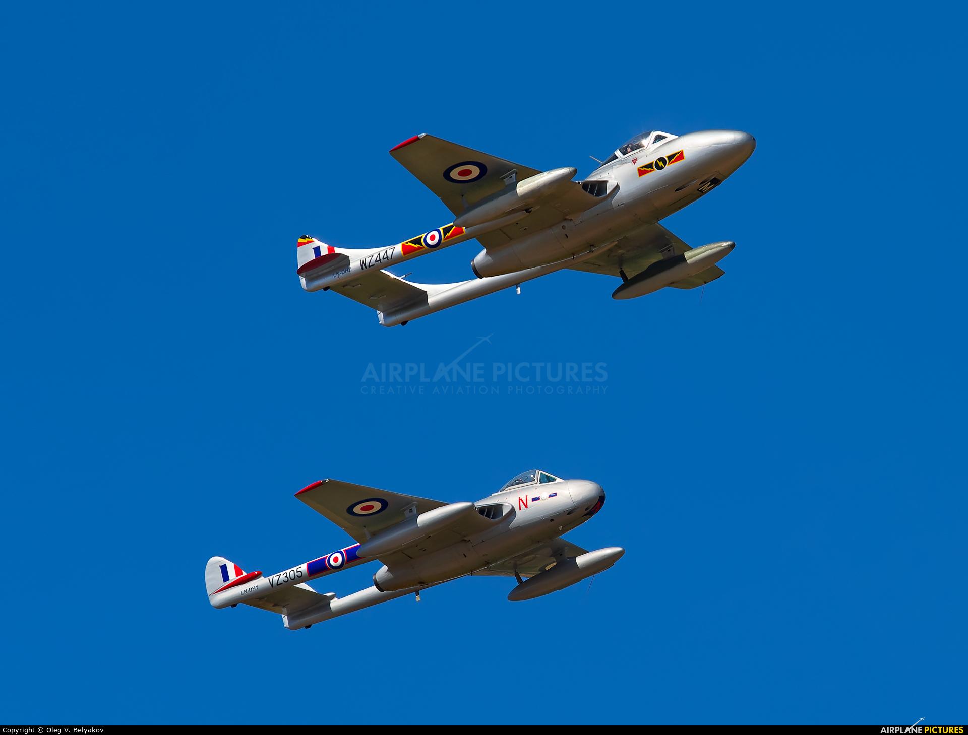 Private LN-DHZ aircraft at Fairford