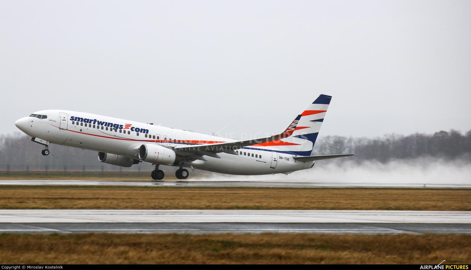 SmartWings OM-TSG aircraft at Ostrava Mošnov