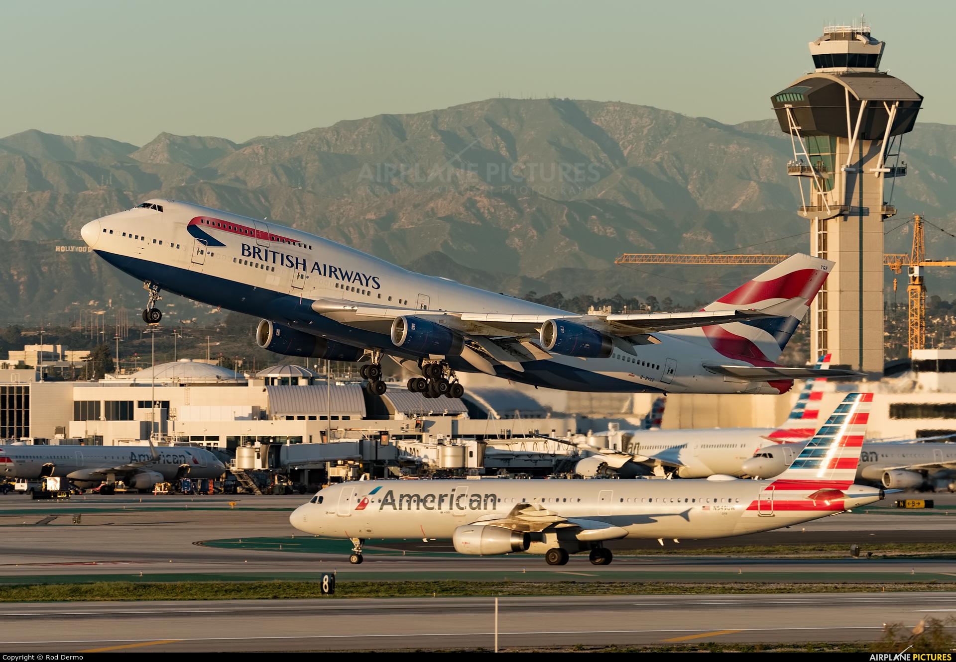 British Airways G-BYGE aircraft at Los Angeles Intl