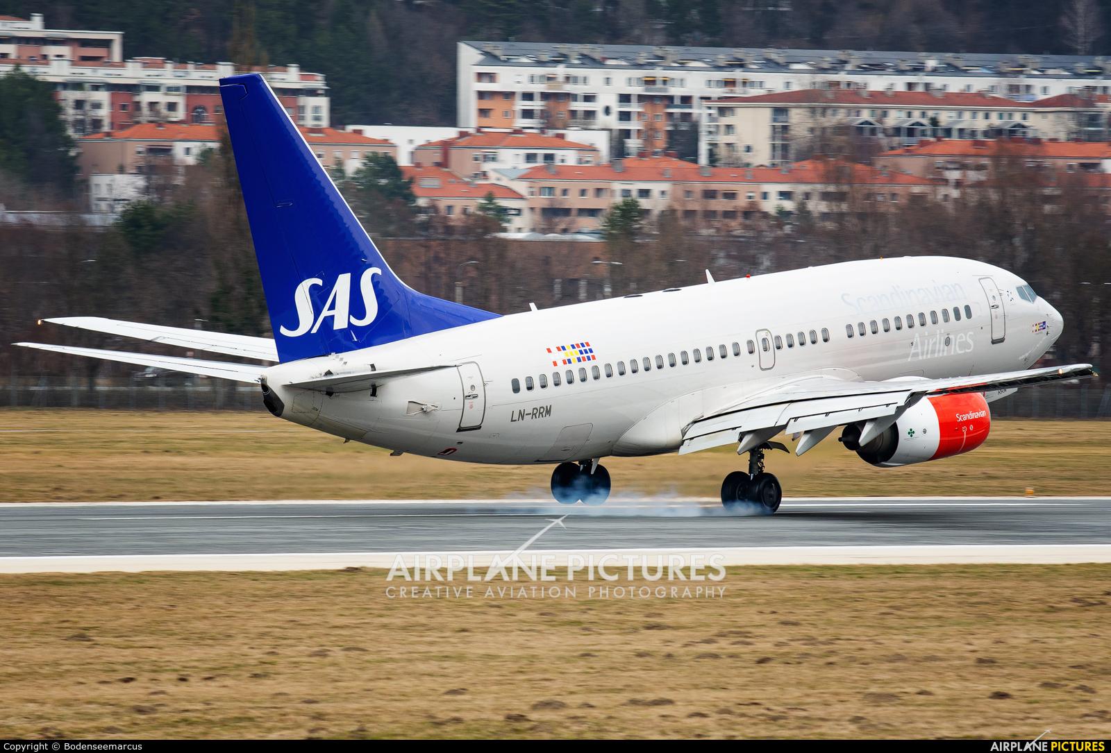 SAS - Scandinavian Airlines LN-RRM aircraft at Innsbruck