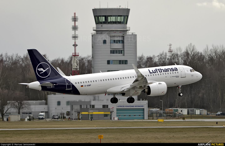 Lufthansa D-AINP aircraft at Kraków - John Paul II Intl