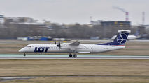OY-YBZ - LOT - Polish Airlines de Havilland Canada DHC-8-400Q / Bombardier Q400 aircraft