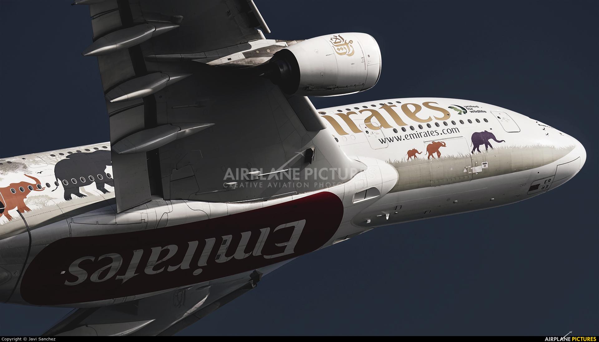 Emirates Airlines A6-EER aircraft at Barcelona - El Prat